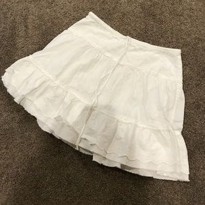 Abercrombie white lace skirt